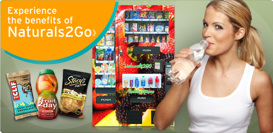 Nutrition2Go Vending Services - Naturals2Go vending machine